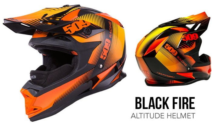 509 Altitude Helmet black fire