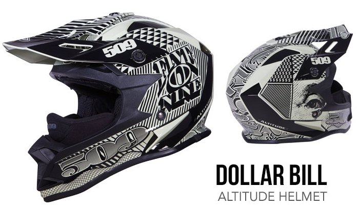509 Altitude Helmet dollar bill