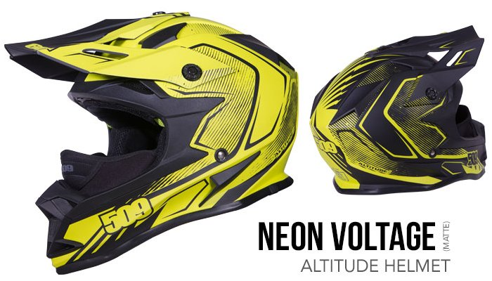 509 Altitude Helmet neon voltage