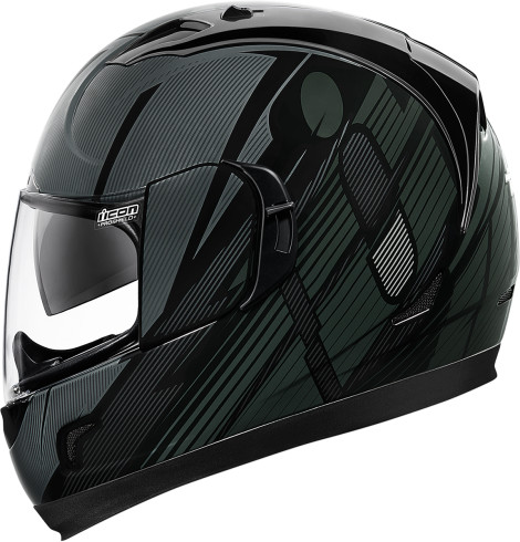 93b570cd Hi-Viz, Icon Alliance GT Motorcycle Helmet Black