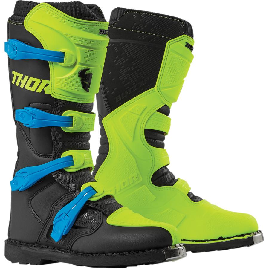 White US 8 THOR Ratchet Motocross Boots