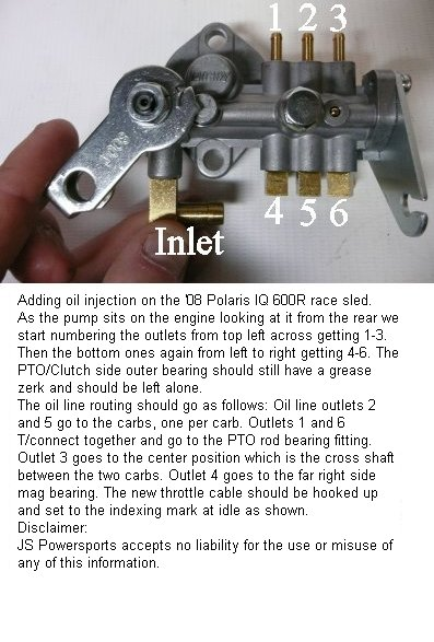 R Oil Pump Line Routing on Fuel Injection Kits