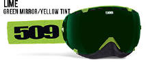 509 Aviator Snowmobile Goggles Lime