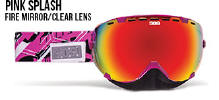 509 Aviator Snowmobile Goggles Pink Splash