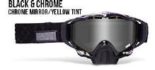 509 X5 Snowmobile Goggles Black and Chrome