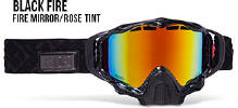 509 X5 Snowmobile Goggles Black Fire