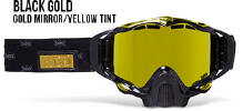509 X5 Snowmobile Goggles Black Gold