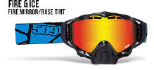 509 X5 Snowmobile Goggles Fire and Ice
