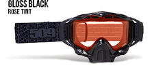 509 X5 Snowmobile Goggles Gloss Black