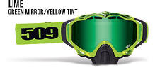 509 X5 Snowmobile Goggles Lime