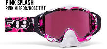 509 X5 Snowmobile Goggles Pink Splash