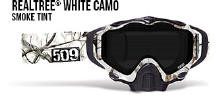 509 X5 Snowmobile Goggles Realtree Camo White