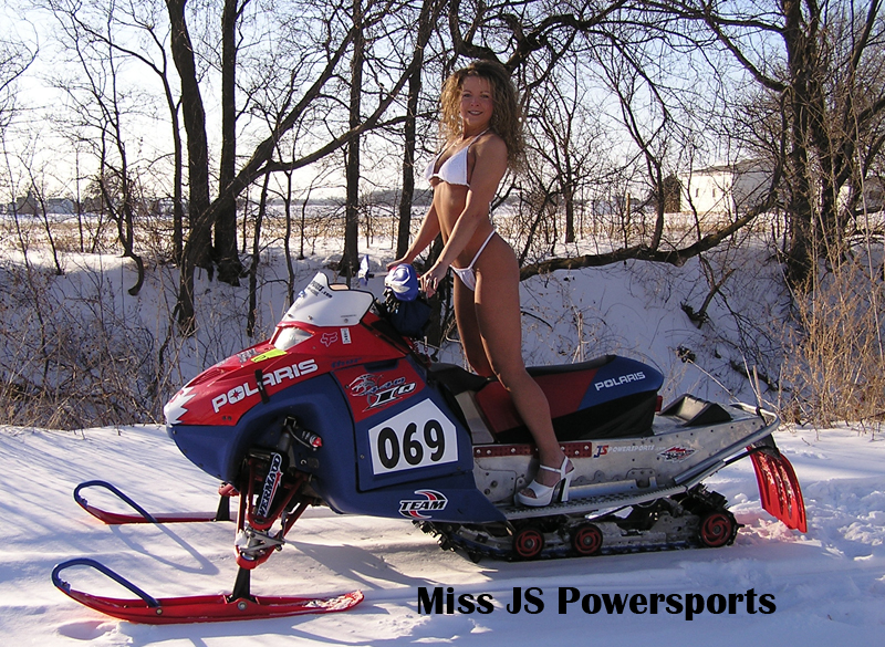 naked chicks on snowmobiles