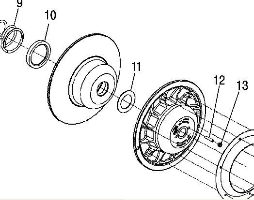 Polaris IQR Drivetrain Parts
