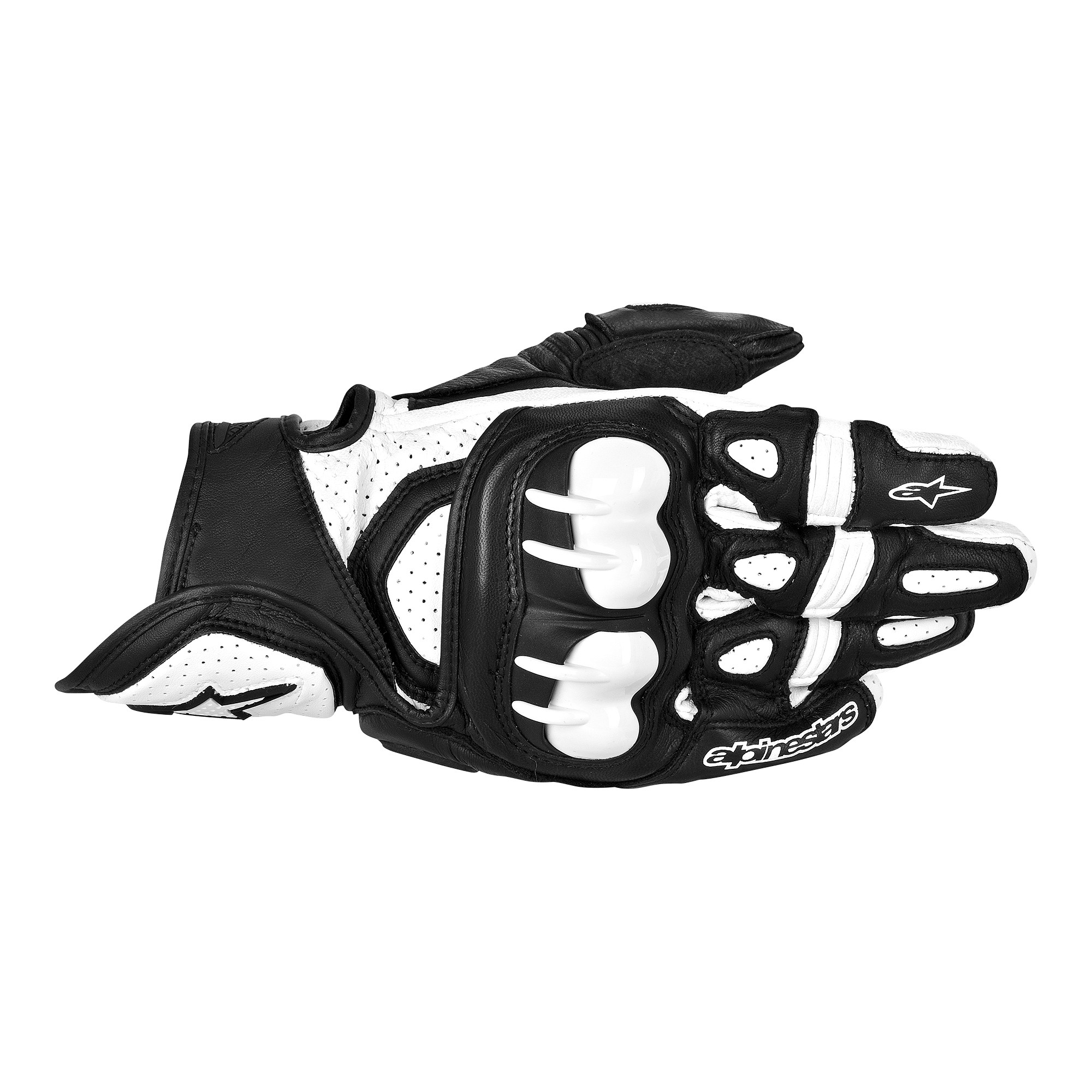 Extra small black leather gloves - Black Gpx Leather Glove Black White