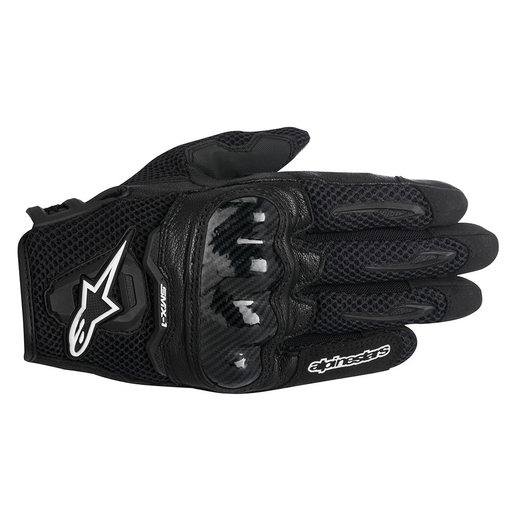 Motorcycle gloves external seams - Black