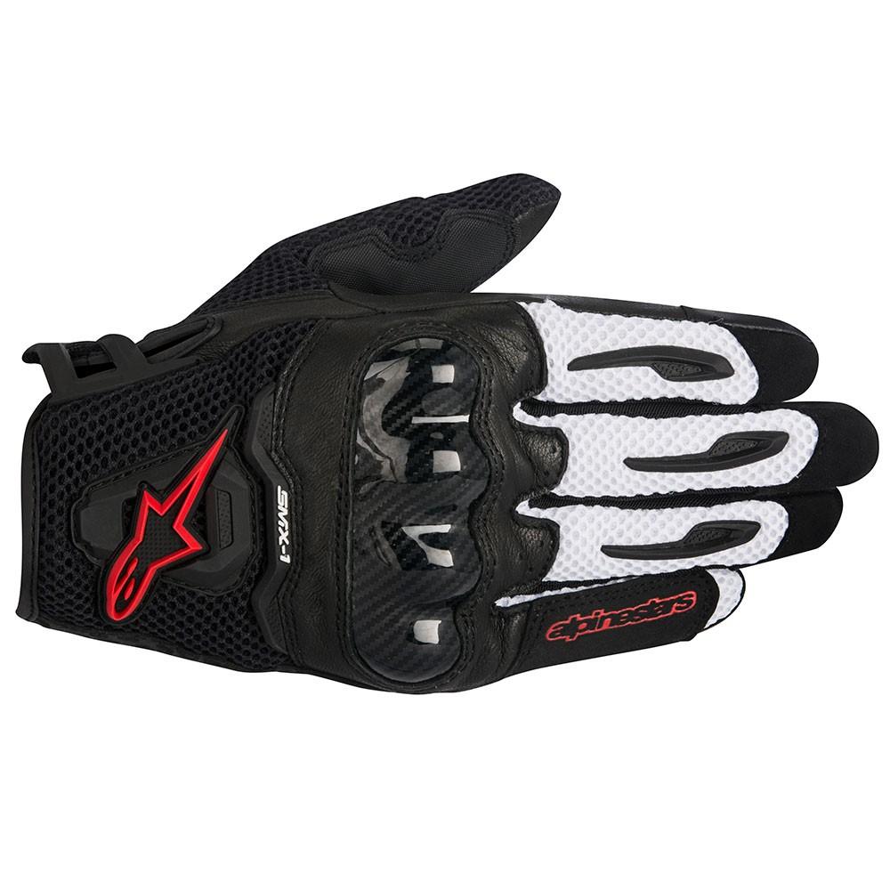Motorcycle gloves external seams - Smx 1 Air Glove White Black Red