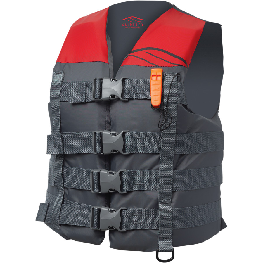 Black//Gray Slippery Wetsuits HYDRO Nylon Watercraft Vest//Life Jacket Pick Size